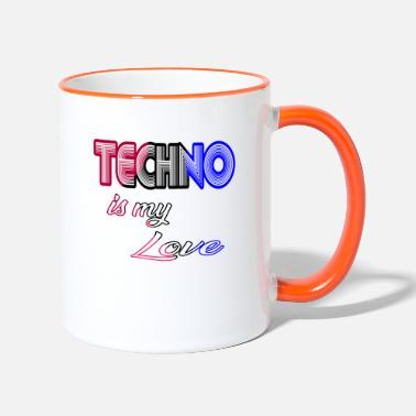 Techno techno is my love - Two-Tone Mug