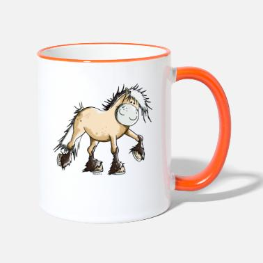 Fjord Horse Cartoon Funny Fjord Horse - Two-Tone Mug