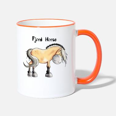 Fjord Horse Cartoon Cute Fjord Horse - Two-Tone Mug