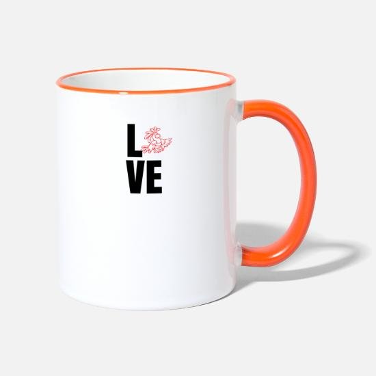 Love Mugs & Drinkware - Love love gift idea - Two-Tone Mug white/orange