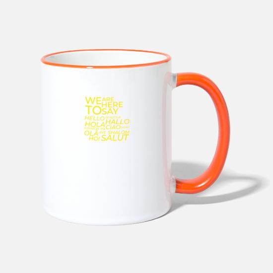 Salam Mugs et récipients - WeAreHereToSay - Mug bicolore blanc/orange