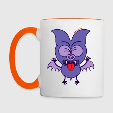 Purple Bat Feeling Disgusted - Contrasting Mug