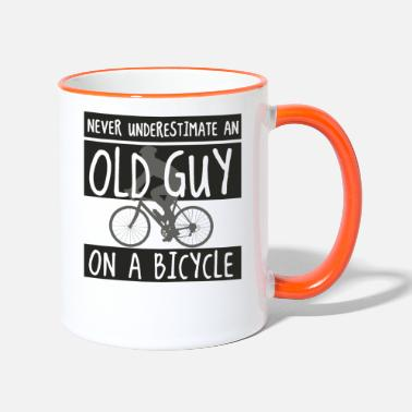 Cycling Never underestimating an old guy on a bicycle - Two-Tone Mug