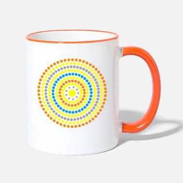 Buddhism Zen mandala of joy - Two-Tone Mug