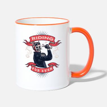 Motorcycle motorcycle, bike, motorcycle, motorcycle ride - Two-Tone Mug