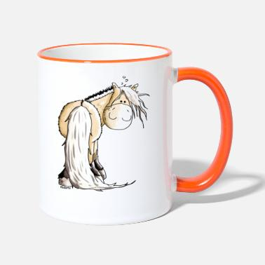 Fjord Horse Cartoon Funny Norwegian Fjord Horse - Two-Tone Mug