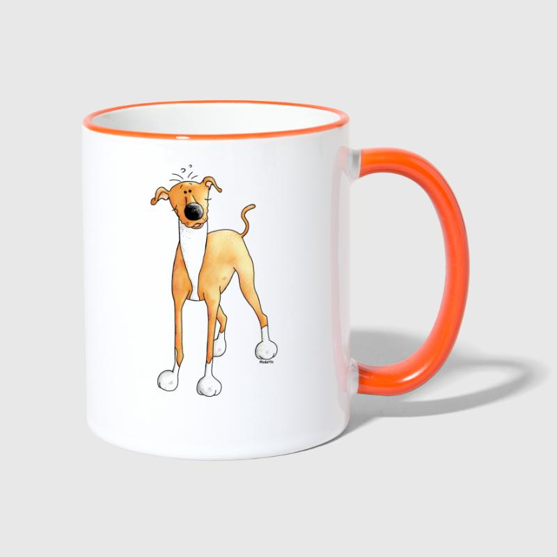 Divertente Greyhound - Cane - Cani - Tazze bicolor