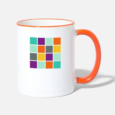 Square Square in square angular - Two-Tone Mug