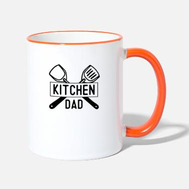 Kitchen kitchen dad - Tasse zweifarbig