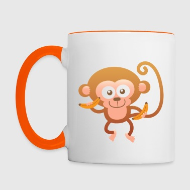 Smiling Happy Monkey - Contrasting Mug