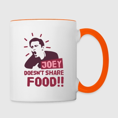 Joey-doesnt-share-food-red - Contrasting Mug