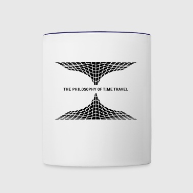 Philosophy time travel - Tasse zweifarbig