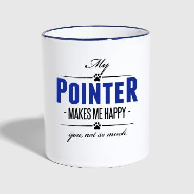 Pointer My Pointer makes me happy - Contrasting Mug