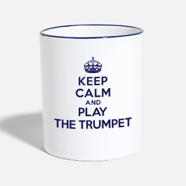 Bébé Keep calm and play the Trumpet - Mug contrasté