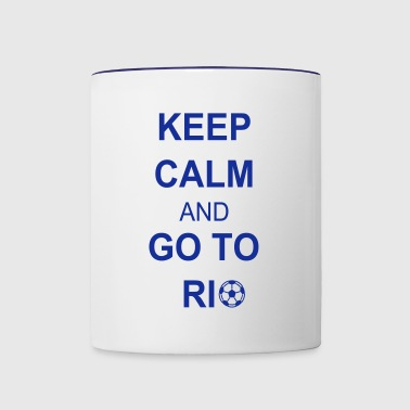 Keep calm and go to rio - Taza en dos colores