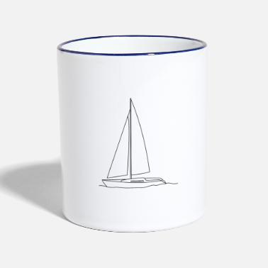 Sailboat sailboat - Two-Tone Mug