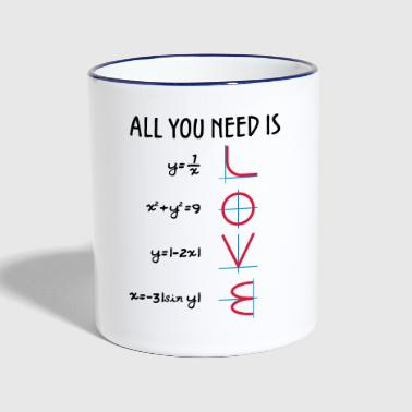 All you need is Love (Equations) Geschenk - Tasse zweifarbig