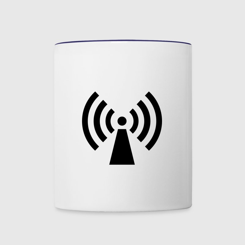 radio / wifi / wireless / signal  - Mug contrasté