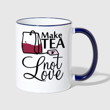 make tea not love (3c) - Contrasting Mug