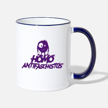 Militant Antifasciste Homo antifasciste - monstre antifasciste - Mug bicolore