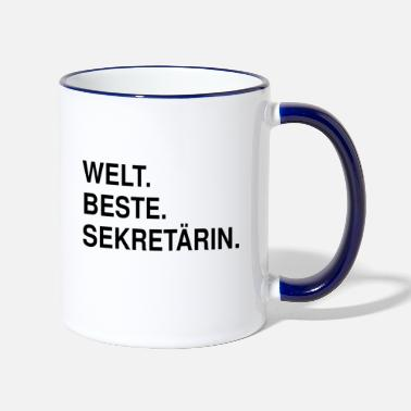 Geschenk voor secretaris Mug Worlds Greatest Secretary - Mok tweekleurig