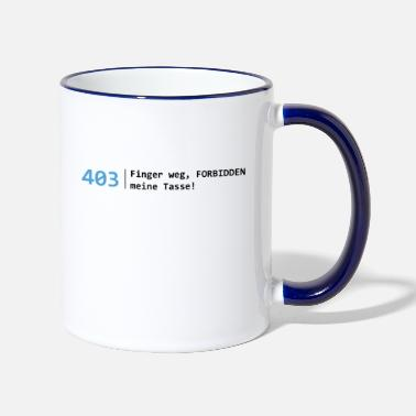 Programmer - 403 Forbidden My cup - Two-Tone Mug