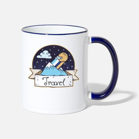 Travel Mugs & Drinkware - Travel - Two-Tone Mug white/cobalt blue