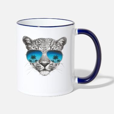 Ap16 Animal Planet Leopard Cool - Two-Tone Mug