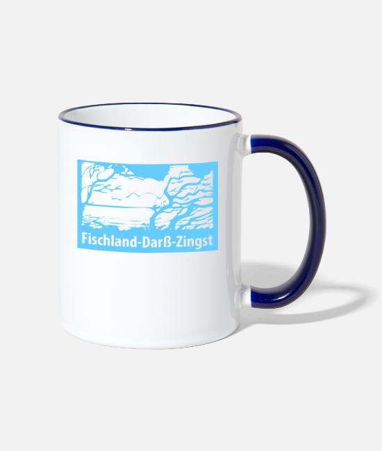 Nature Mugs & Drinkware - FischlandDarssZingst (WindFlaucher Edition) - Two-Tone Mug white/cobalt blue