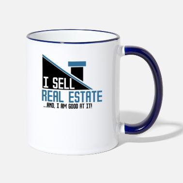 Real Estate Real Estate - Real Estate Agent - Two-Tone Mug