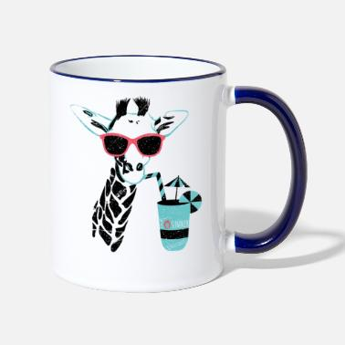 Officialbrands Animal Planet Giraffe Mit Sonnenbrille Sommer - Tasse zweifarbig