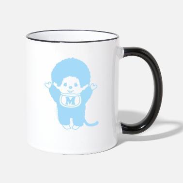 Chic-a-Boo Monchhichi pastel blue - Two-Tone Mug