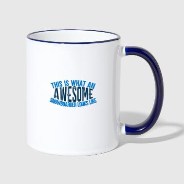 Awesome Boarder - Boarder Power - Tasse zweifarbig