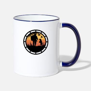Stag Never mess with a hunter. - Two-Tone Mug