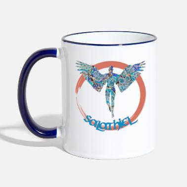 Archangel salathiel e 238 - Two-Tone Mug