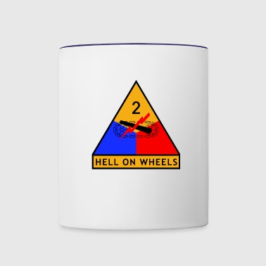 2nd_Armored_Division - Taza en dos colores