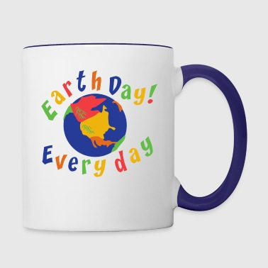 Earth Day Every Day - Mug contrasté