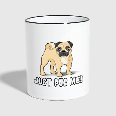 Pug Me Cartoon Dog - Contrasting Mug
