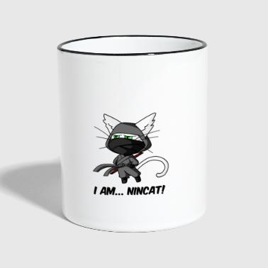 Nincat, the ninja cat - Mug contrasté
