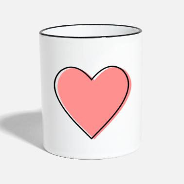 Life Force Heart love life force icon gift - Two-Tone Mug