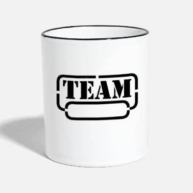 Divertidas name your team - Taza de dos colores