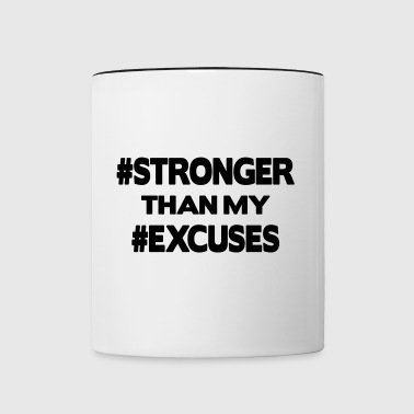 Stronger Than My Excuses - Tofarvet krus