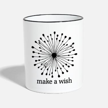 Vecteur MAKE A WISH - Mug bicolore