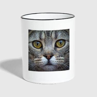 Bengal Cat Close Up - Contrasting Mug