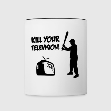 Kill Your Television - Against Media dumbing - Mug contrasté