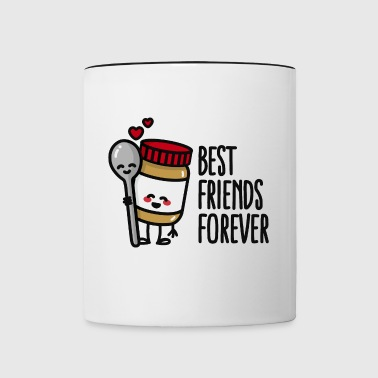 Best friends forever peanut butter / spoon BFF - Taza en dos colores
