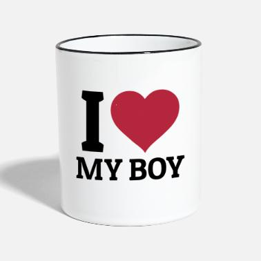 Boyfriend I love my Boy - Mok tweekleurig