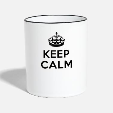 Keep Calm Keep calm Your Text - Mug contrasté