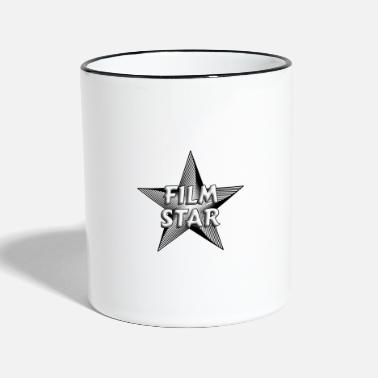 Star Movie Star Black and White Shirt - Two-Tone Mug