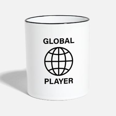 Global acteur global - Mug bicolore
